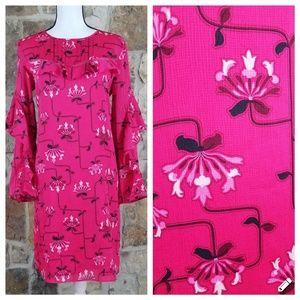 Ann Taylor 8 Floral Print Ruffle Dress
